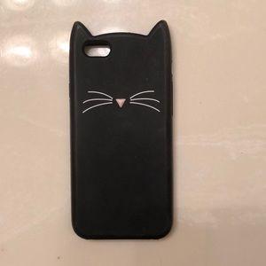 Accessories - iPhone 6/6s black cat phone case